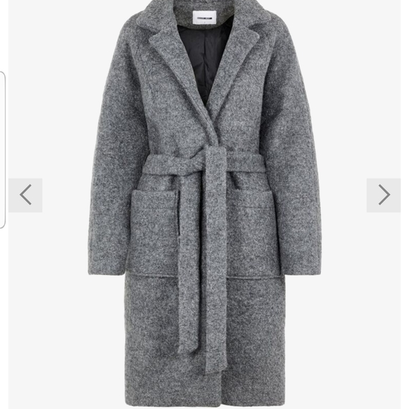 Noisy May Long Coat XS Light Grey